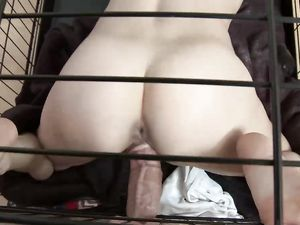 Slave In A Cage Fucked By Her Big Dick Master