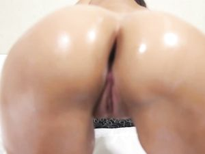 Round Booty Cutie Gobbles Knob In POV And Gets Laid