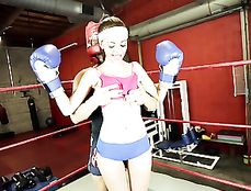 Boxing Ring Hardcore Sex With A Sporty Teenager