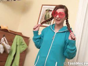 Flirty 18 Year Old In Pajamas Wants To Masturbate