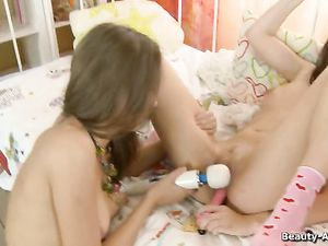 Girlfriends And Their Toys Having Naughty Anal Sex