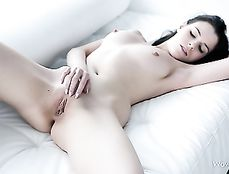 Erotic Solo Teen Masturbation With A Sexy Brunette