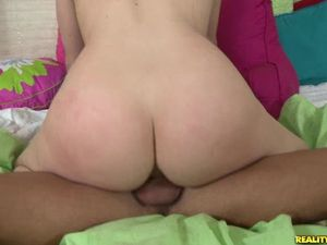His Babe In Pigtails Likes Riding Big Cock