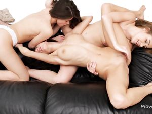 Three Gorgeous Bodies On The Lesbian Teenagers