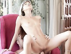 Young Wet Pussy Impaled On A Big Cock