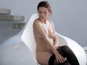 Panties And Stockings Hottie Has Perfect Titties