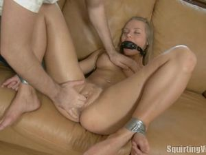 Fisting A Gagged Teen Cutie That Is Totally Soaked