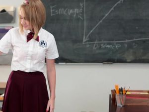 Pleated Miniskirt Girl Blows And Fucks Her Teacher