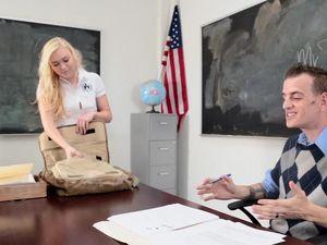 Sex With His Favorite Schoolgirl Makes A Teacher Cum