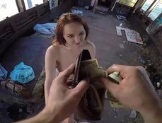 Cash For Cunt In A Nasty Abandoned Building
