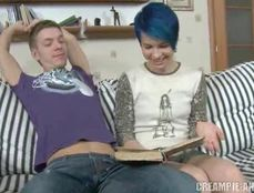 Licking A Teenage Cunt And Plunging His Cock Inside