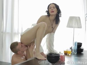 Stunner Sucks A Cock With Her Wet Young Mouth