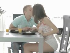 Making Love After Breakfast With His Teen Girlfriend
