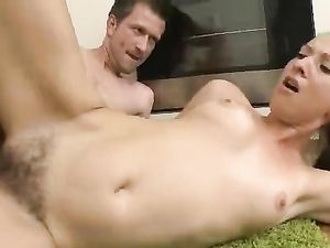 Teen Getting Her Hairy Pussy Pounded In The Kitchen