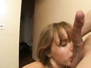 Brunette Babe Giving Head And Fucking Doggy Style