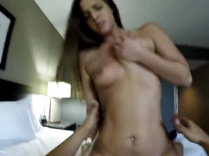 Amazing Babe Riding A Long Schlong And Loving It