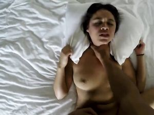 Brunette Babe Riding A Long Cock In The Hotel Room