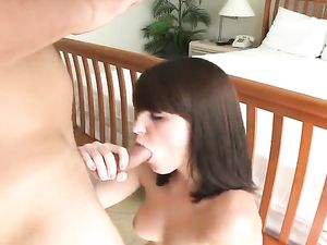 Brunette Babe Sucking And Fucking In Hotel Room