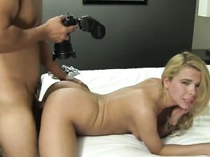 Blonde Angel Getting Pounded Doggy Style And Cumshot