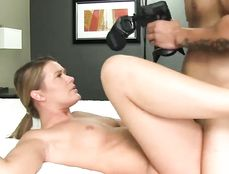 Young Blonde Banged In Doggy Style After Sucking