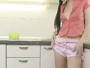 Teen With Pigtails Banging Anally In The Kitchen