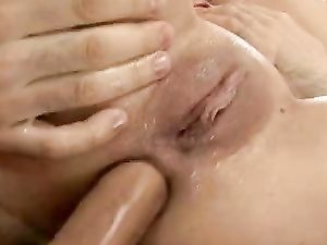Blonde Teen Deepthroating A Big Dong Before Anal