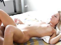 Blonde Angel Sucking On A Long Schlong Before Riding It