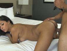 Brunette Teen Sucking A Long Dong And Doggy Style Fucking
