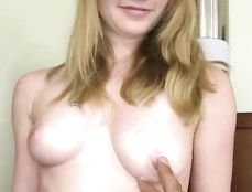 Sweet Blonde Sucking And Fucking Doggy Style