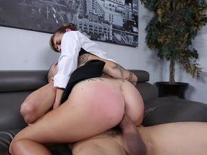 Boss Enjoys Pounding His Amazing Secretary