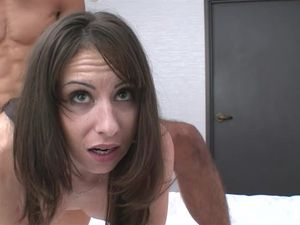 Lovely Brunette Hot Babe Gets Her Pussy Pounded