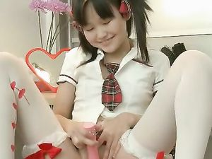 Cutest Asian Teen Ever Dresses As A Schoolgirl