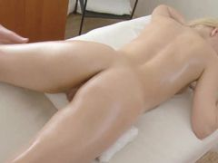Happy Ending Orgasm For The Blonde And The Guy