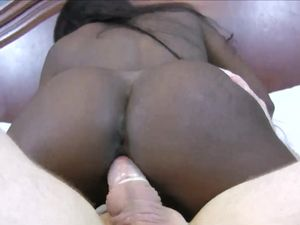 Fucking Tight Black Pussy With His Hard White Dick