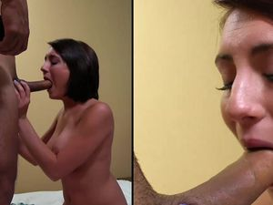 Debut Porn Scene Ends With A Nice Big Facial