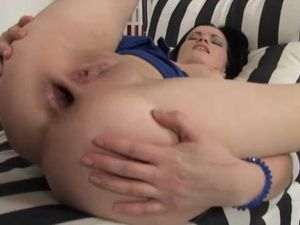 Lubed And Loosened Young Asshole Fucks A Big Cock