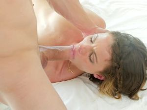 Rubbing Oiled Tits And Pussy To Arouse Her For Hot Sex