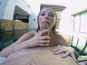 Sucking Dick In The Pool Like A Good Girl