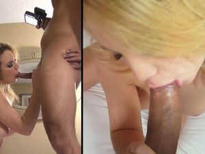 Shaved Pussy Fucked Hardcore On The Hotel Room Bed