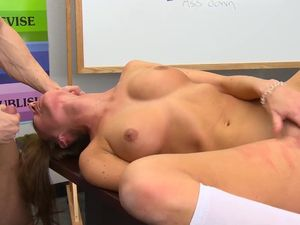 Schoolgirl In A Sweater Gets Naked For Teacher Dick