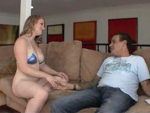 Slut In A Skimpy Bikini Offers Her Body For His Pleasure