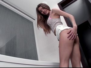 Teen Cock Tease Gets Him Stiff To Fuck Her Wet Cunt
