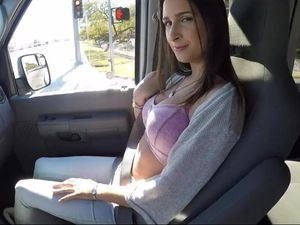 Big Tits Hitchhiker Fucks The Driver For A Ride