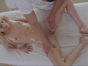 Massaging His Love And Fucking Her Tight Pussy