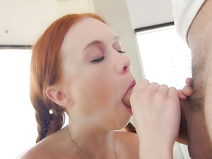 Petite Teenage Redhead Pounded By A Monster Cock